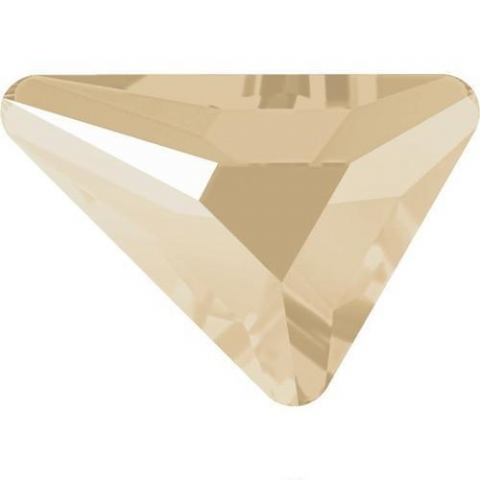 2739 Triangle Beta Crystals, Flatback, No-Hotfix, Ivory Cream